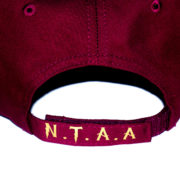 """Wine Red x Gold Hat"" 1"