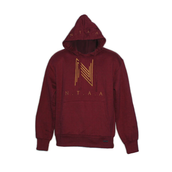 """Wine Red x Gold Hoody"" 1"