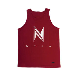 """Crimson Red x White"" (Men's Tank Top) $40.00"