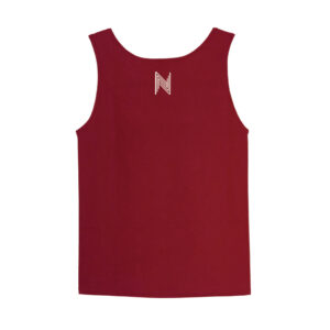 """Crimson Red x White"" (Men's Tank Top)"