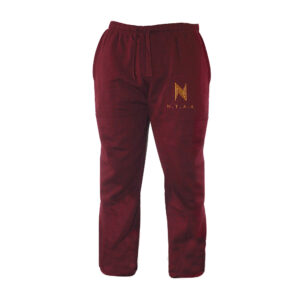 Wine Red x Gold Track Pants